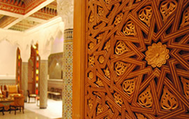 Moroccan carved wood