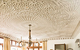 Moroccan plaster ceiling