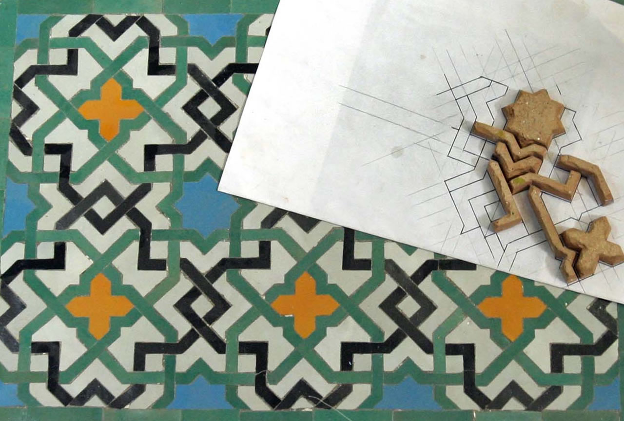 Moroccan tiles installation