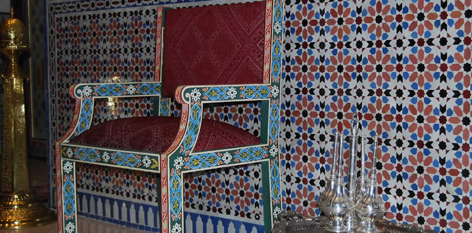 . Moroccan Wood Chairs