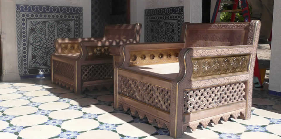 Moroccan Wood Chair 10