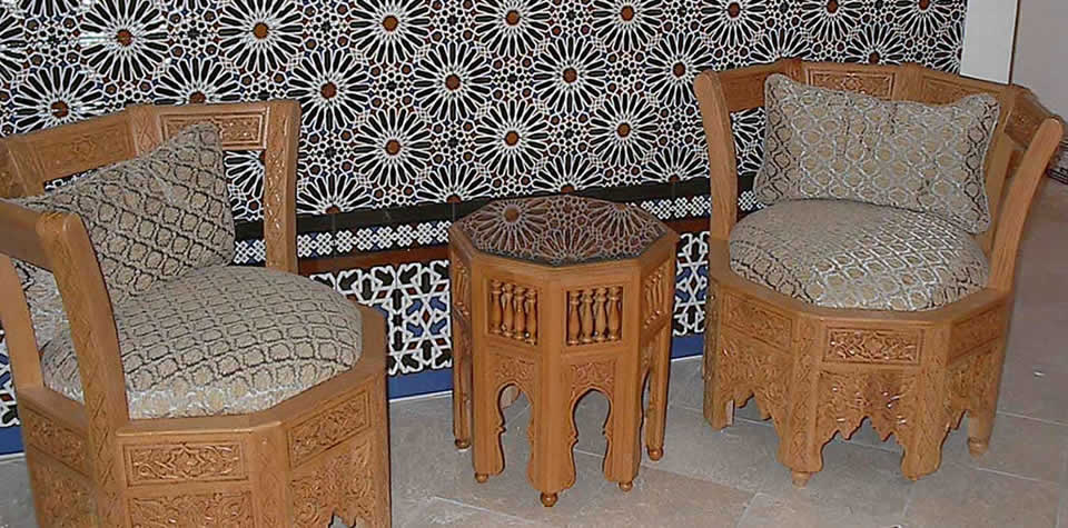 Moroccan Wood Chair 11