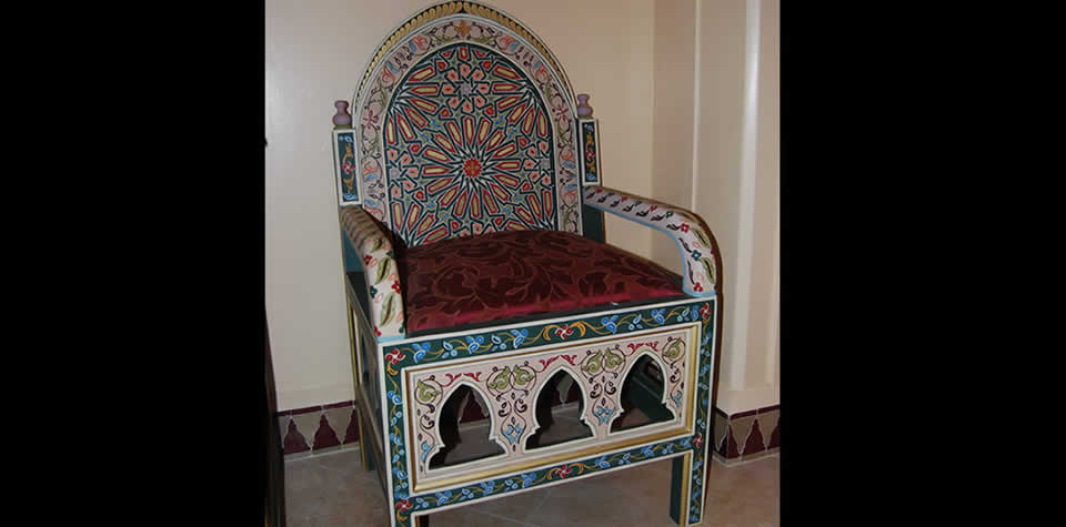 Moroccan wood chair 2. Moroccan Wood Chairs