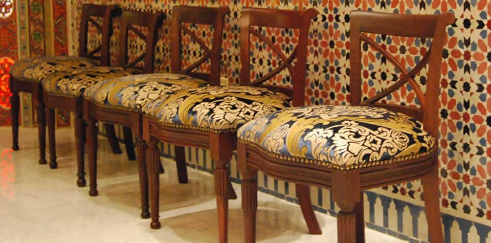 Moroccan wood chair 3