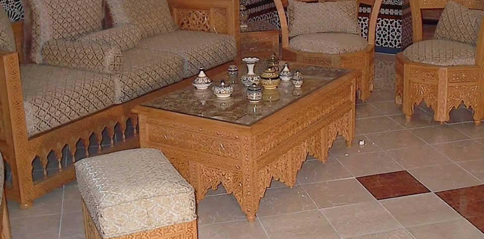 Moroccan Wood coffee table 5