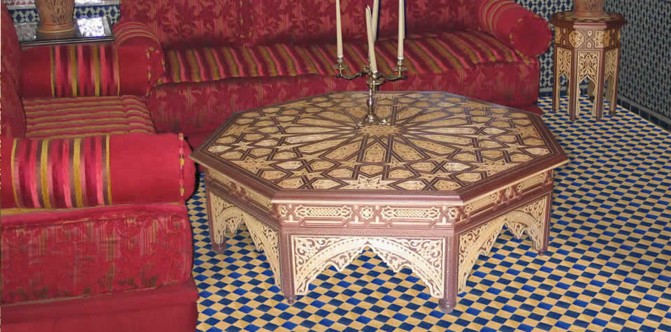 Moroccan dinning table 5 - Moroccan Wood Dining Tables