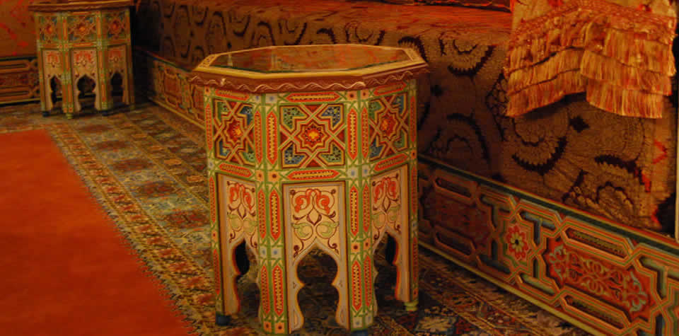 Moroccan end table 2. Moroccan Wood end tables