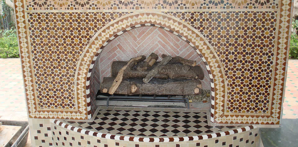 Moroccan Tiles Fireplace 3