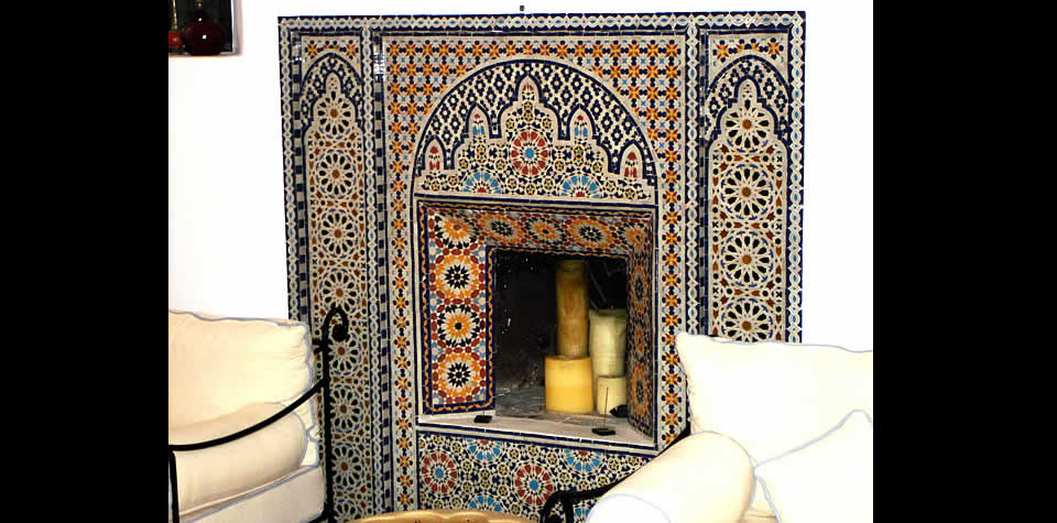 Moroccan Tiles Fireplace 8