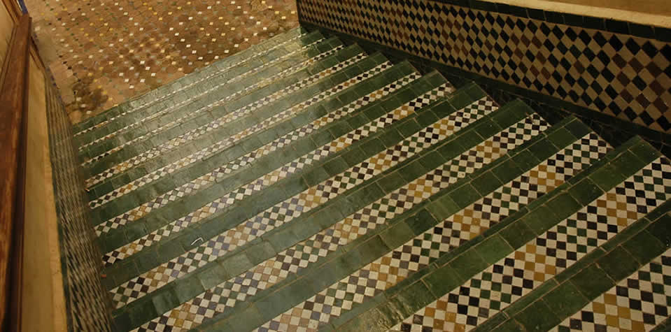 Moroccan Tiles Stair 1