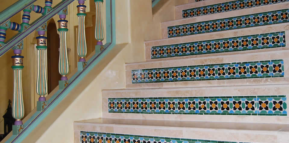 Moroccan Tiles Stair 4